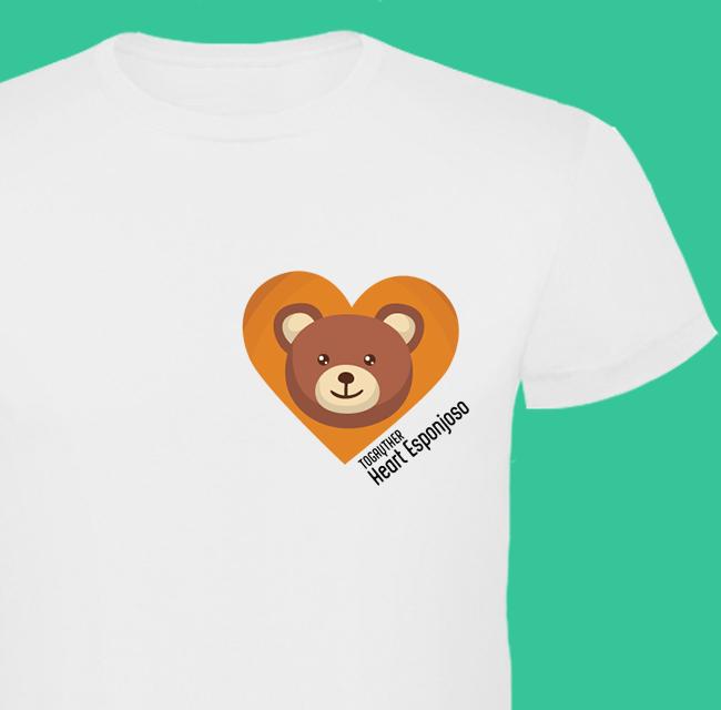 """#Camiseta #Gay """"Heart Esponjoso"""" Camiseta blanca 100% algodón con diseño exclusivo de la Colección """"Corazones y plumas""""  http://www.togayther.es/producto/camiseta-gay-heart-esponjoso/"""