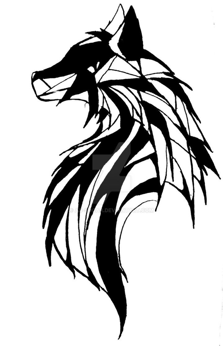 Line Art Wolf Tattoo: I Do Commissions! $5 For Something Small Up To $20 For