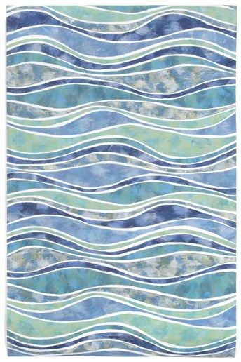 Trans Ocean Imports Liora Manne   Visions IV Wave Rugs | Coastal Bedrooms U0026  Baths L