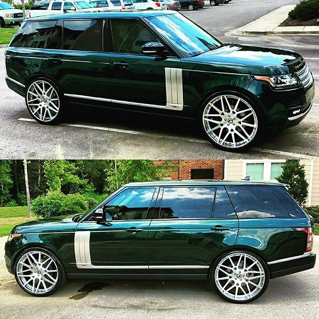 Have You Ever Seen 2016 Aintree Green Range Rover Hse Supercharged Lwb On A Very Custom Set Of 26 Custom Range Rover Range Rover Supercharged Range Rover Hse