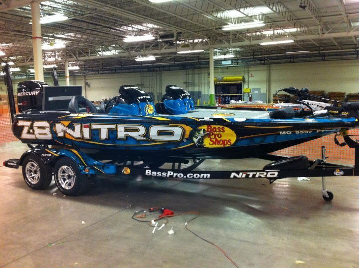 Clunns New Bass Fishing Boat Wrap Whats Up Bass Fishing Tips - Nitro bass boat decals
