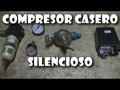 compresor de aire casero. cómo hacer un compresor con motor de nevera silencioso - youtube aire casero
