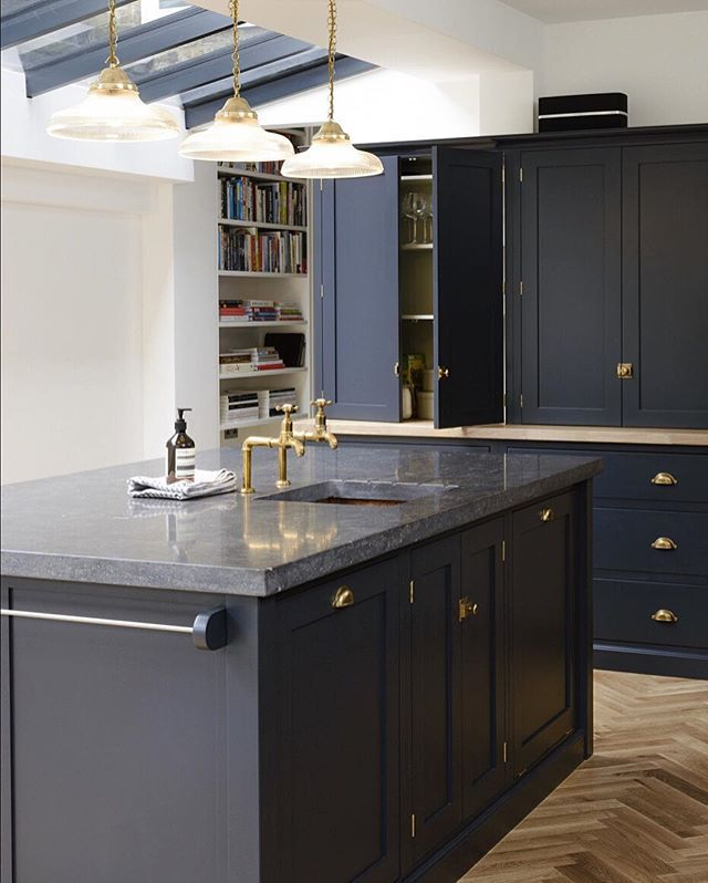Navy Blue Kitchens That Look Cool And: These Dark Belgian Blue Limestone Worktops Look So Cool