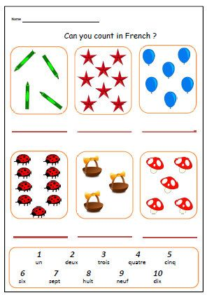 french worksheet about numbers primary by yippeelearning on etsy french sheets pinterest. Black Bedroom Furniture Sets. Home Design Ideas