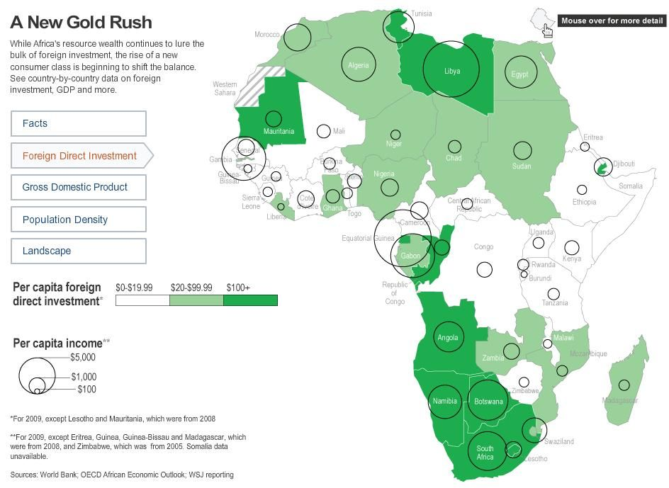 Africa map a new gold rush interactive map and gold rush interactive map of africa a new gold rush foreign direct investment view selected sources world bank gumiabroncs