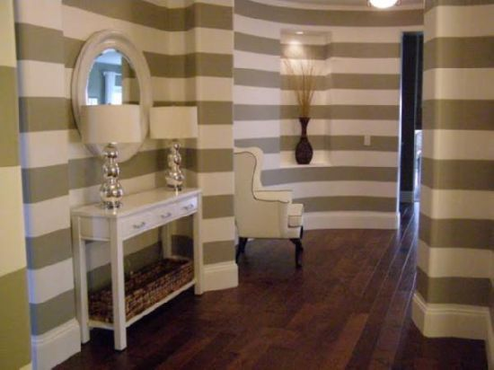 Painted Stripes In Bathroom | How To Paint Horizontal Stripes Bathroom  Image Search Results