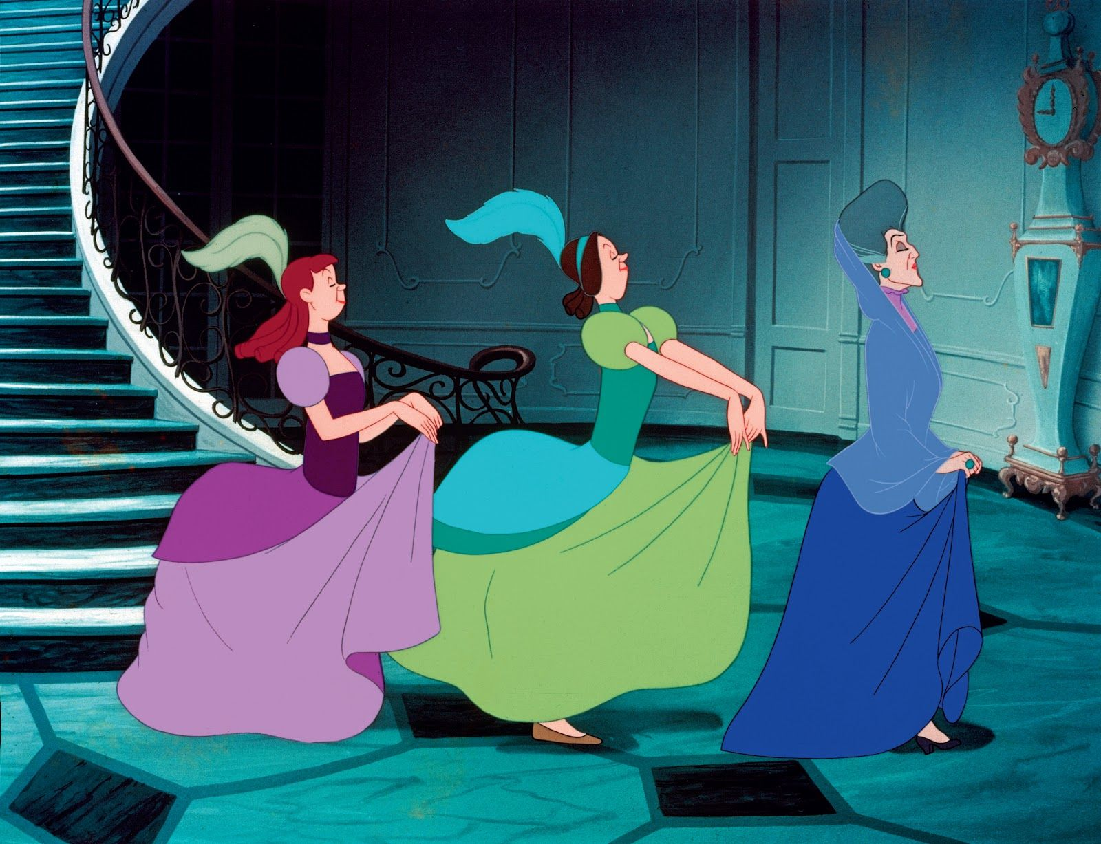 The haughty & cruel stepfamily left for the royal ball, leaving ...