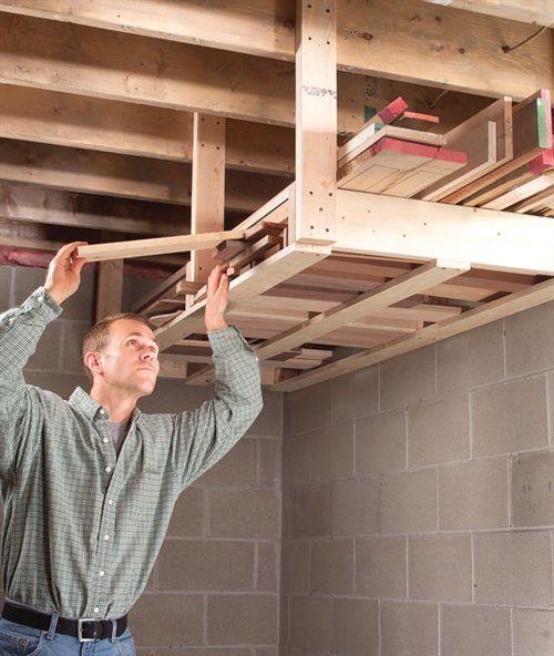 Overhead Lumber Rack Garage Tool StorageGarage