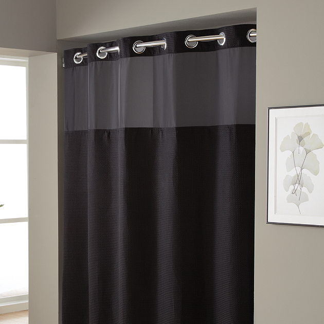 Striped Gray Shower Curtains Give Bathrooms A Strong, Masculine Design...  50 Shades
