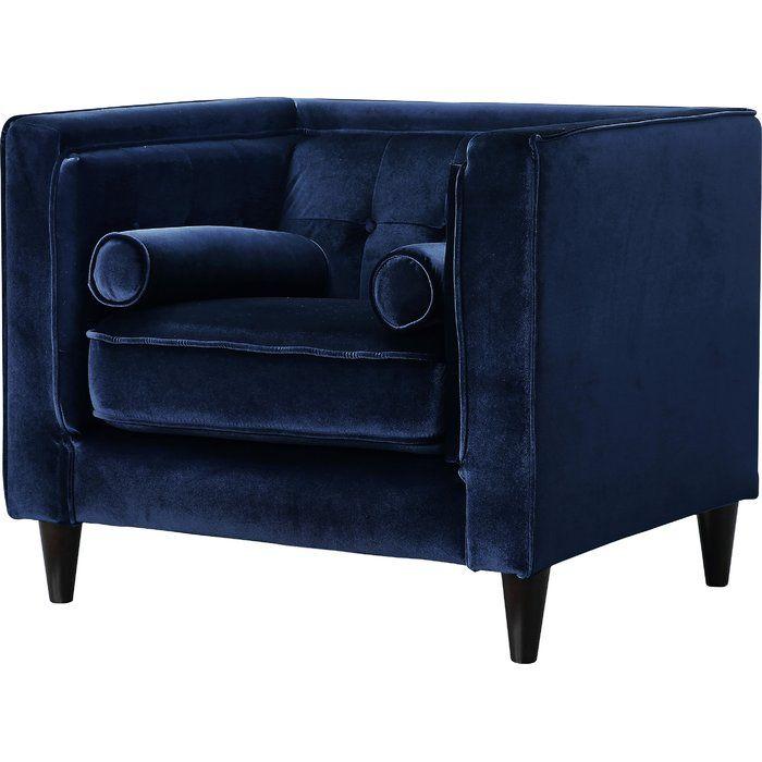 Aidy Armchair Blue Velvet Chairs Club Chairs Velvet Chair