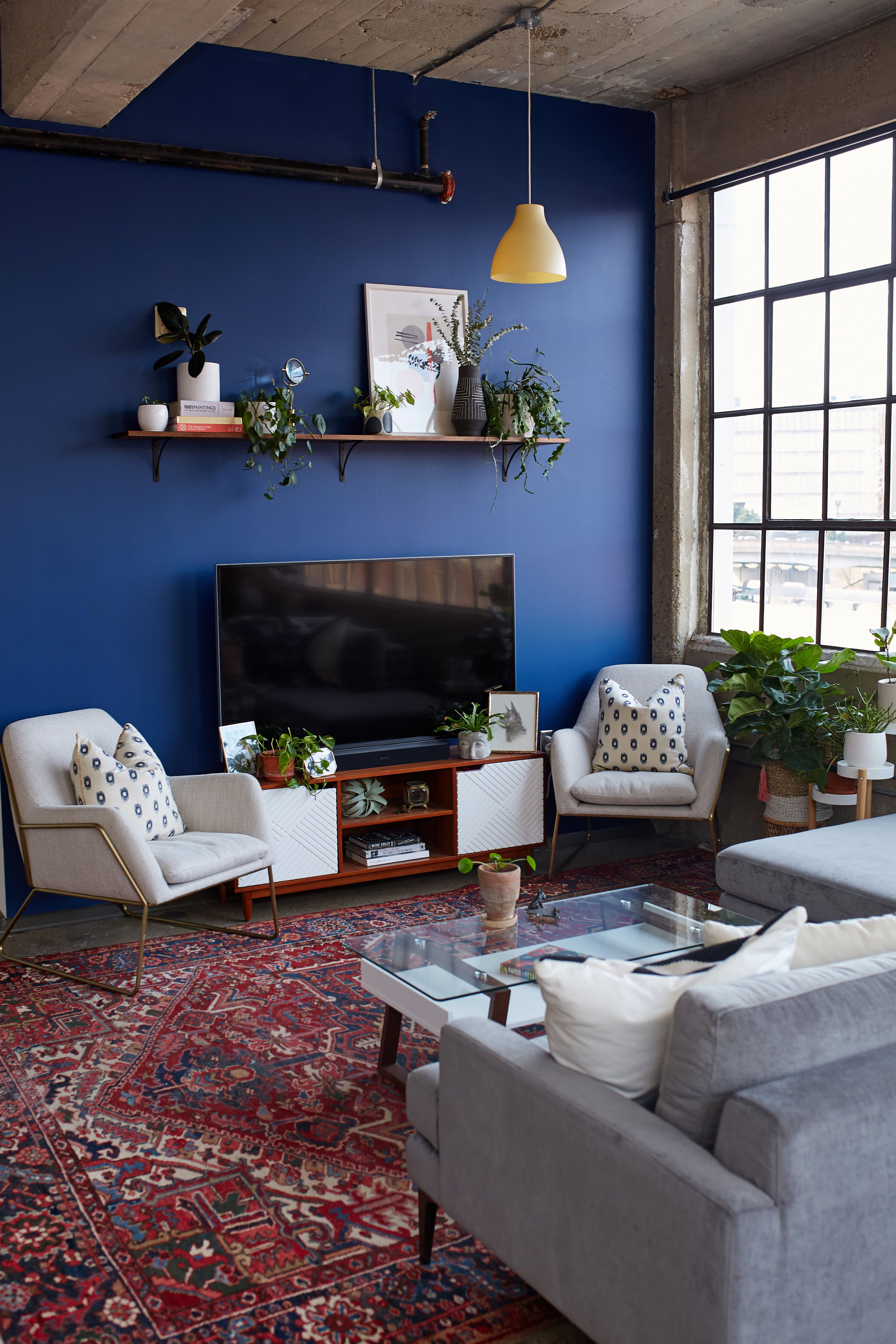 A Bold Blue Accent Wall Is Just One Of The Beautiful Things About