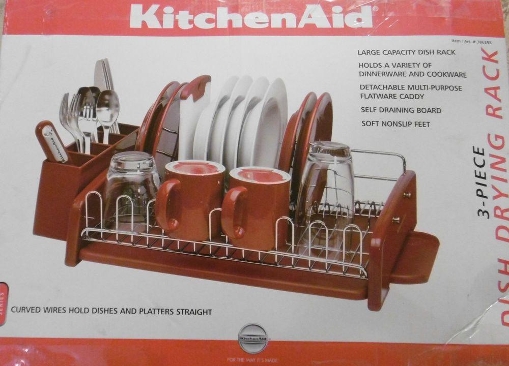Kitchenaid classic large capacity 3 piece dish rack drying