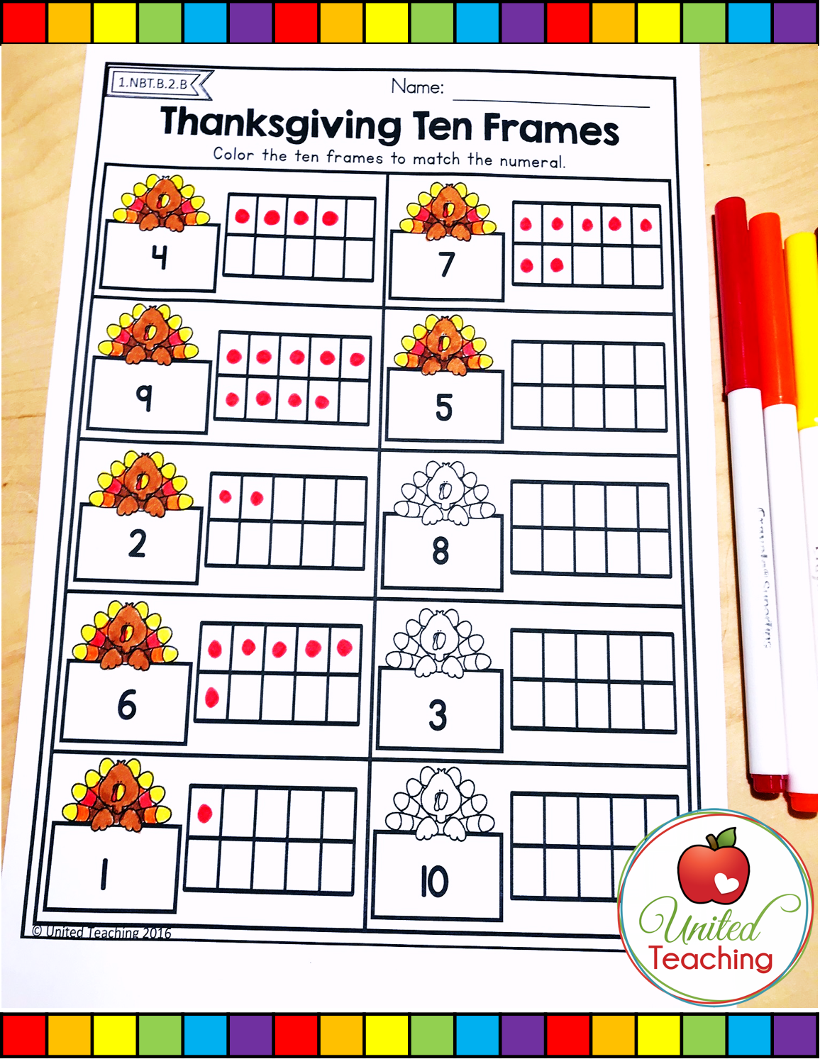 Fun Thanksgiving Math Worksheet Grade 1