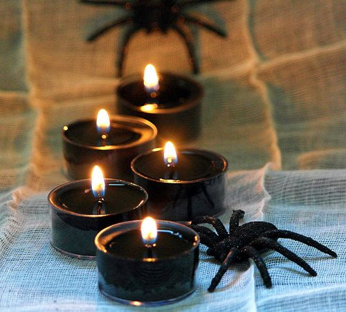 Black candles and spiders #halloween