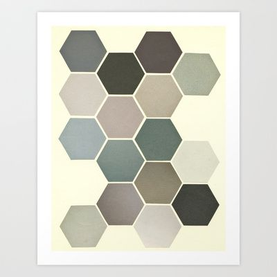 Shades of Grey Art Print by Cassia Beck - $20.80