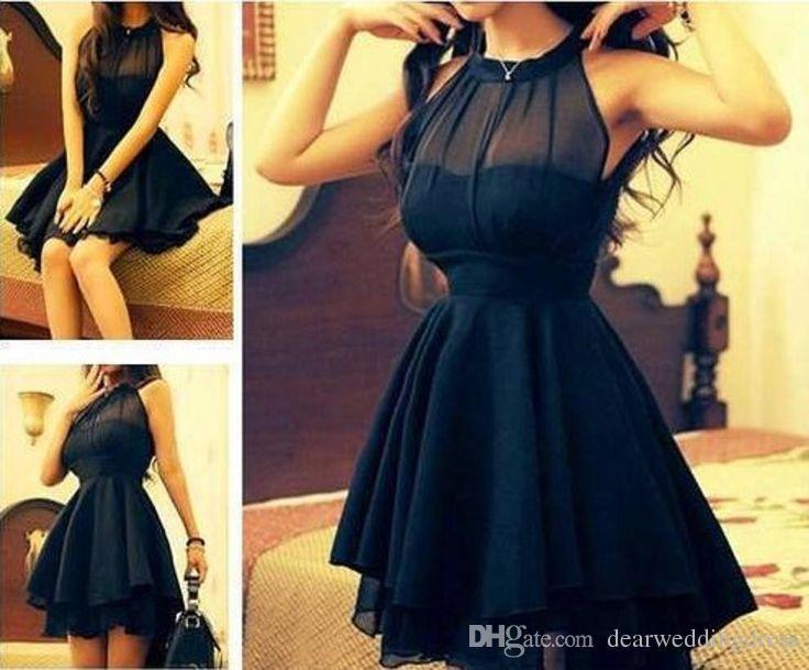 Black dress for 8th grade graduation necklaces