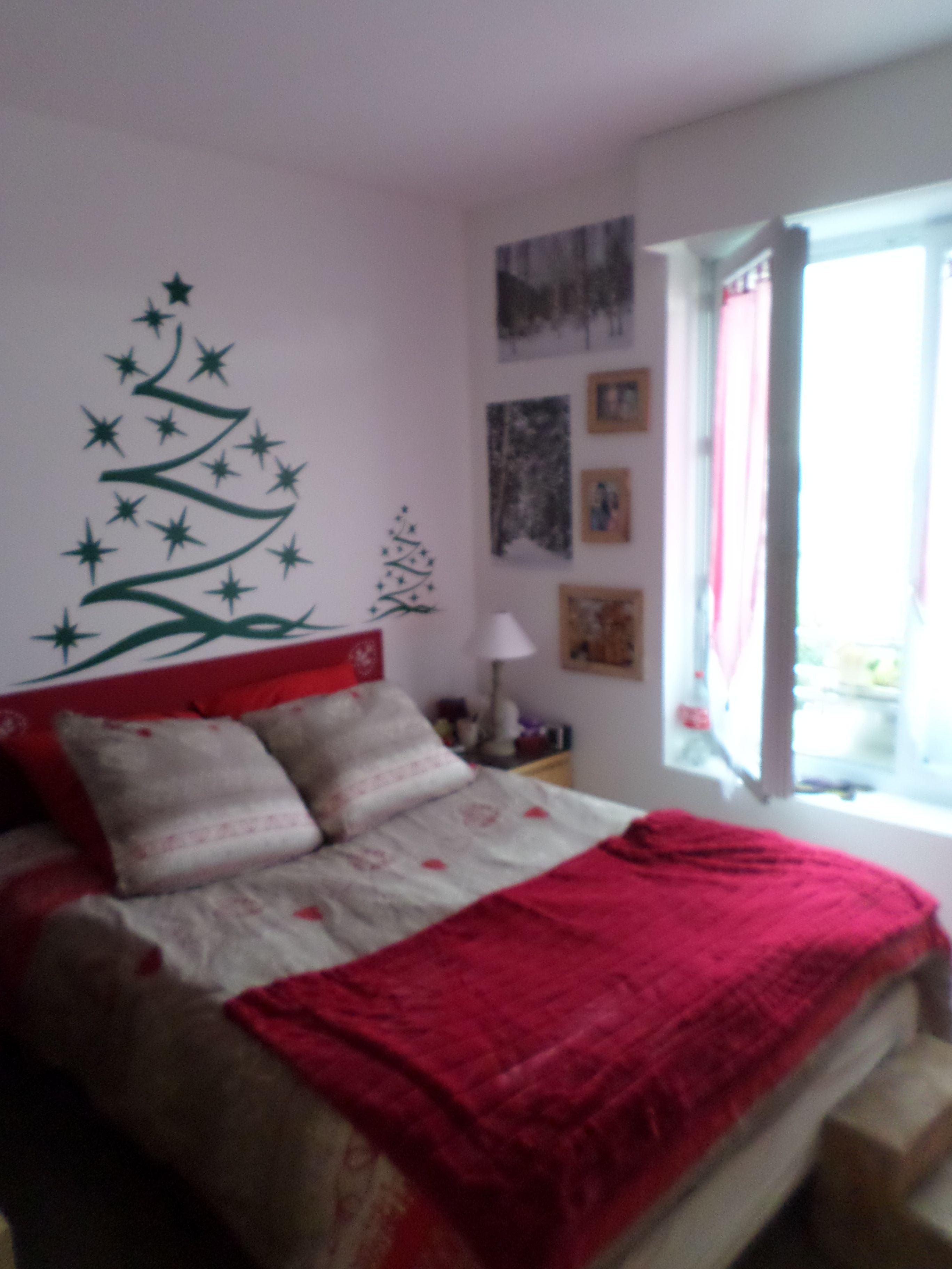 Ma chambre : des sapins...