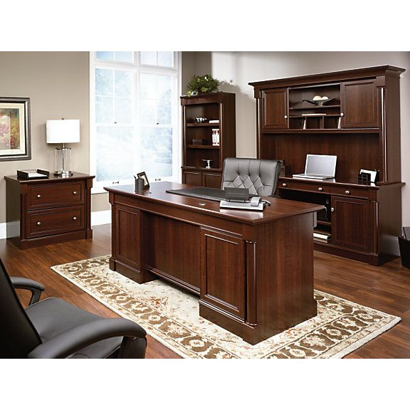 Sauder Palladia Collection Executive Desk Select Cherry Item