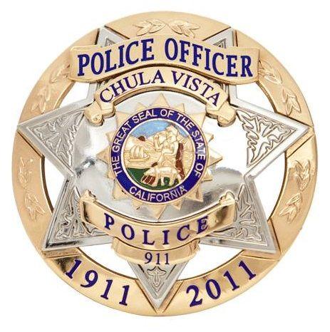 Chula Vista Pd Calif 1 Police Badge Fire Badge Police