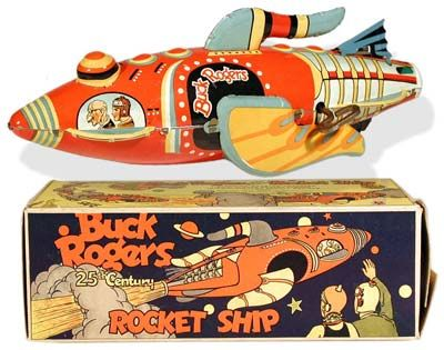Buck Rogers Rocket Ship with Box We had him