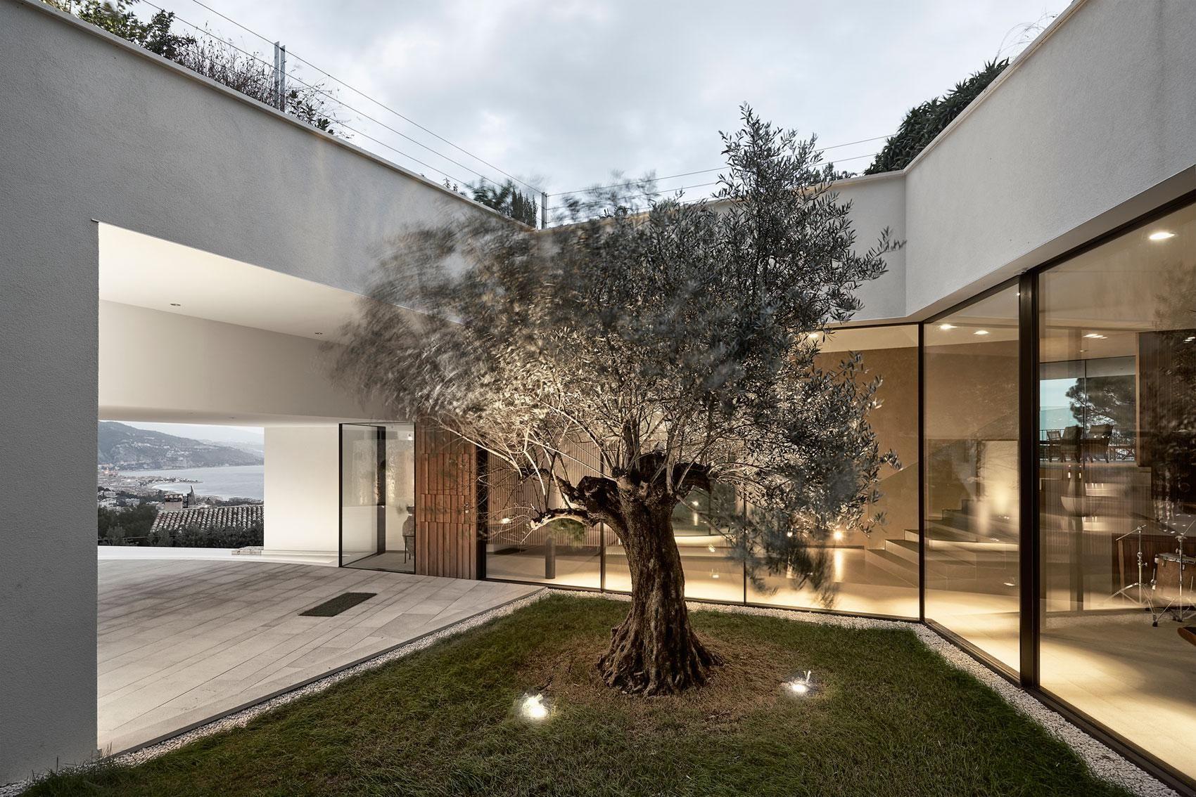 Világítás a kertben - külső továbbiak ötletek, modern stílusban