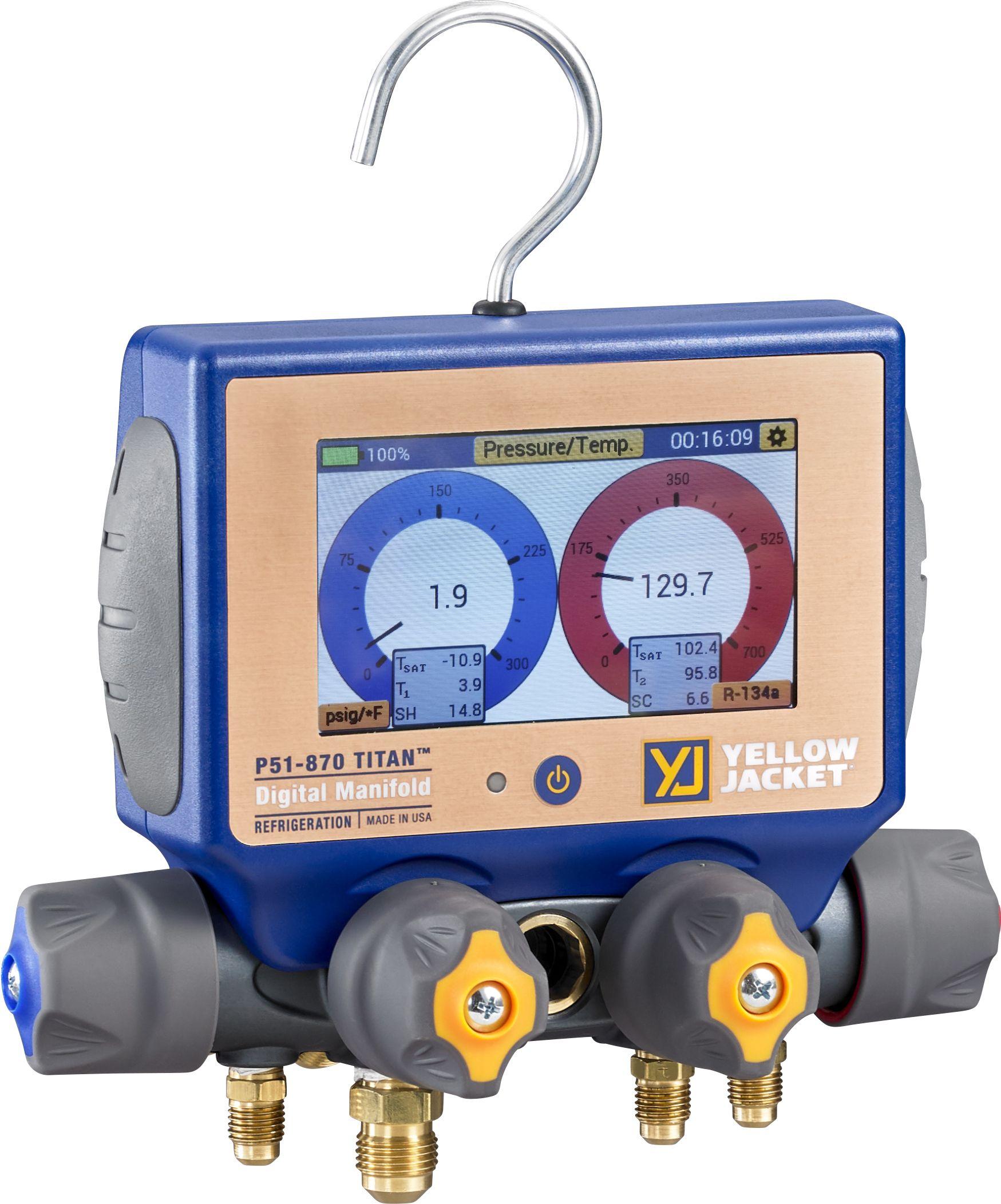 Yellow Jacket P51870 Titan Digital Charging Manifold Set