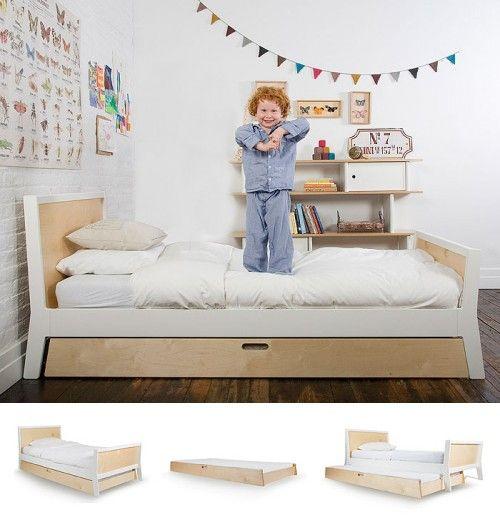Kinderbed Met Extra Bed.Kinderbed Met Extra Uitschuifbaar Matras Voor Loges Gimmii