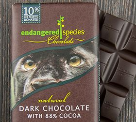 Endangered Species Chocolate company - all organic, fair-trade chocolate, with 10% of all proceeds benefiting several wildlife funds. And the different chocolate types ALL sound delicious.