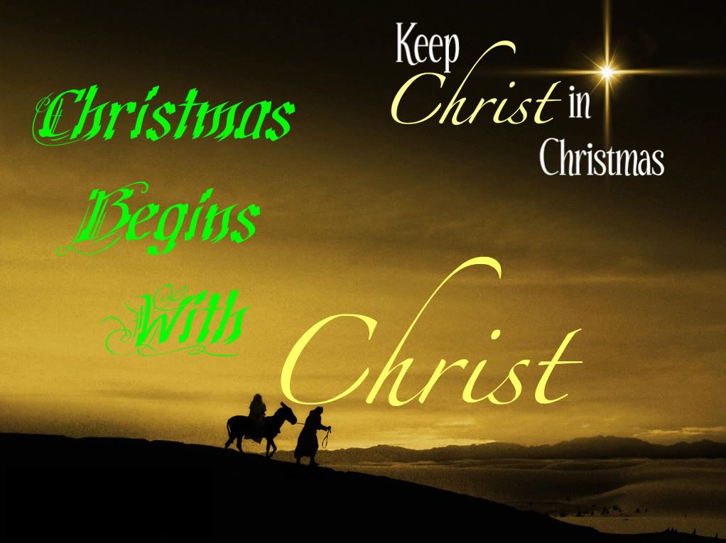 Christmas begins with Christ. KEEP CHRIST IN CHRISTMAS. | God quotes ...