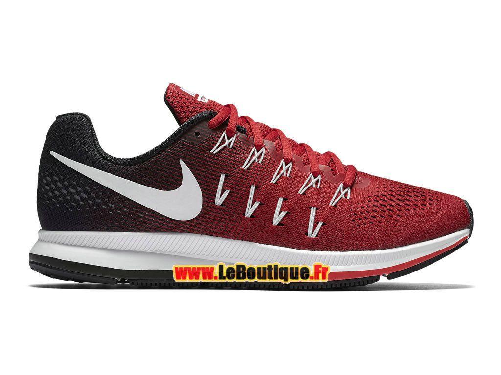 Nike Air Zoom Pegasus 33 - Chaussure de Nike Running Pas Cher Pour Homme Rouge sportif/Noir/Blanc 831352-602
