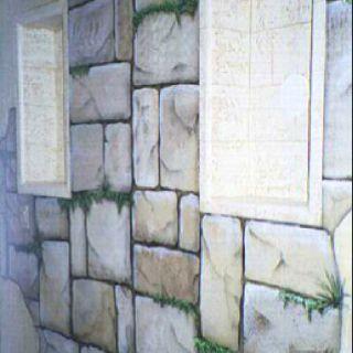 Faux Stone Wall Faux Stone Walls Faux Rock Walls Paint Tarp