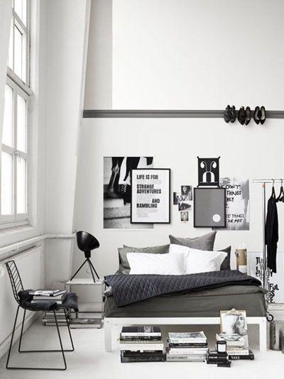 Relooking déco chambre en noir et blanc Architect Design