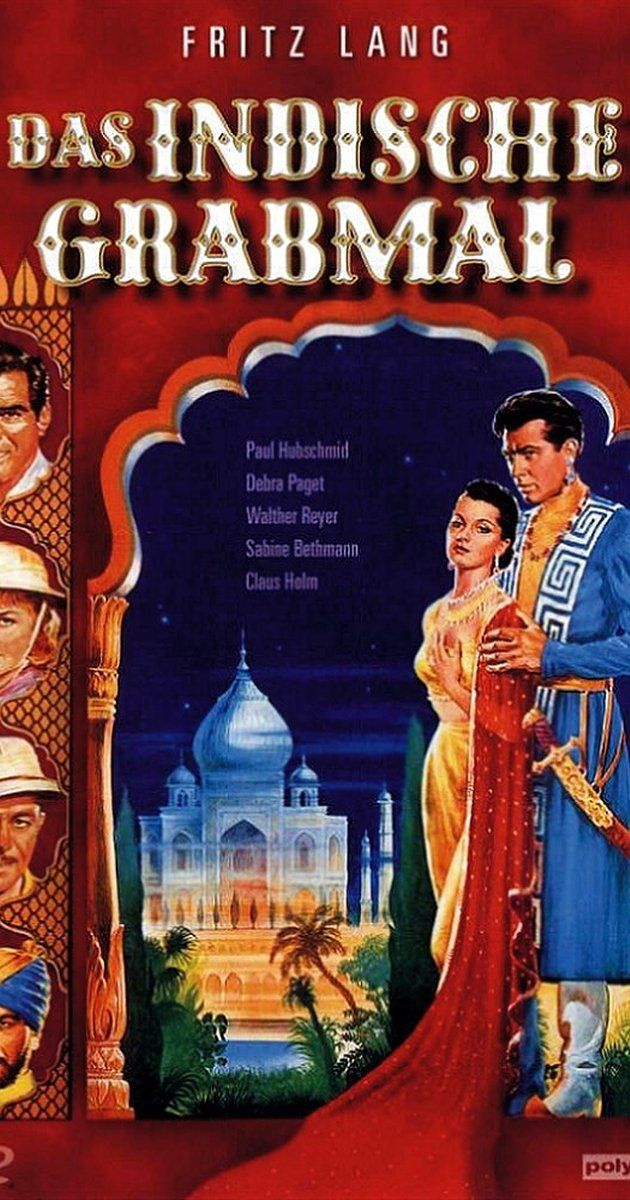 Directed by Fritz Lang.  With Debra Paget, Paul Hubschmid, Walther Reyer, Claus Holm. A German architect runs away with the maharajah of Eschnapur's fiancee but is caught and thrown in the dungeon, while his relatives arrive from Europe looking for him and the maharajah's brother is scheming to usurp the throne.
