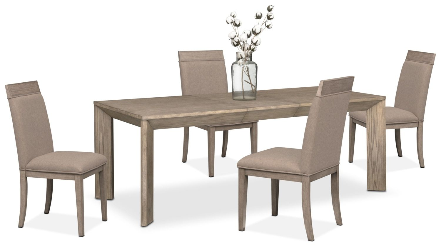 Gavin Table And 4 Side Chairs Graystone American Signature Furniture Side Chairs Dining Room Decor Furniture #value #city #living #room #tables