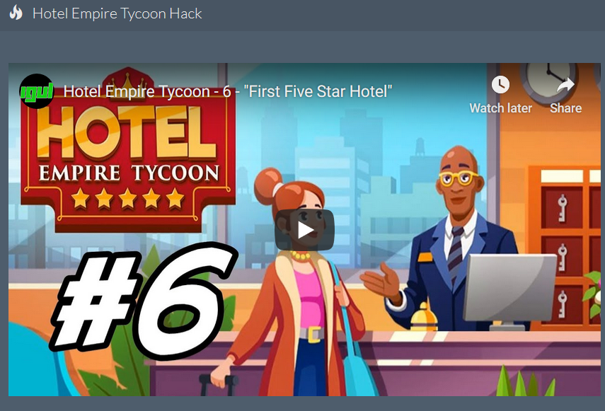 Hotel Empire Tycoon Cheats 600k Free Gems Hack 2020 That Works In