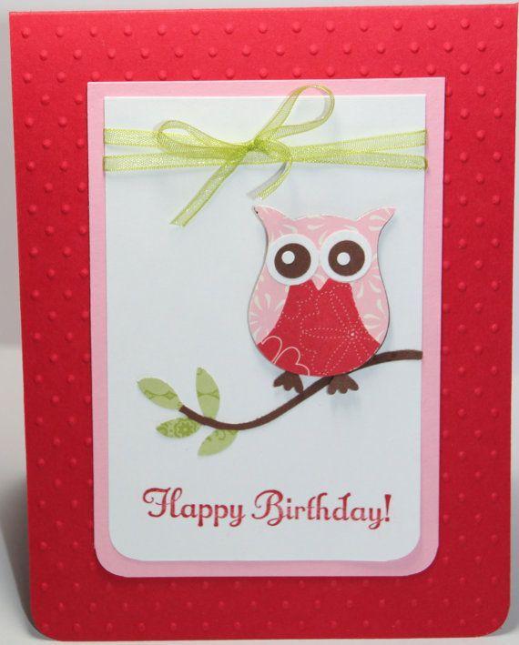 owl birthday card stampin up handmadebeingacreativemom