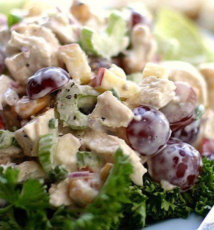 recipe: chicken macaroni salad with grapes [2]