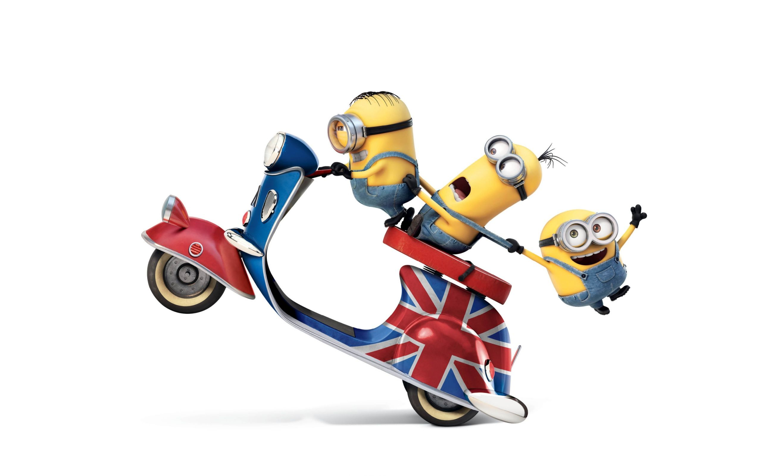 Minions 2015 On Scooter Riding Bike Ride Funny Wallpaper Com