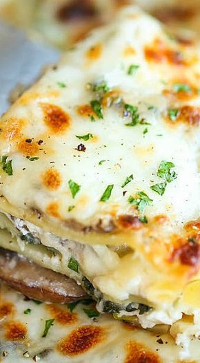 creamy spinach and mushroom lasagna  recipe with images