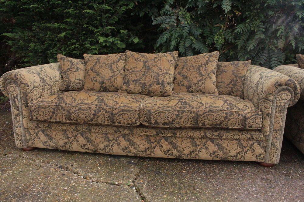 Handmade Duresta Maximus 3 4 Seater Tapestry Sofas Suite