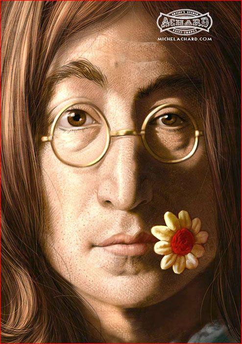 John Lennon por Michel Achard