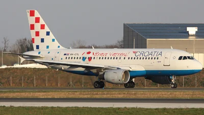 Croatia Airlines Hv 9a Ctl Airbus A319 112 Plane With The Inscription Bravo Vrateni And A Ball On The Fuse In 2020 Croatia Airlines Croatia President Of Croatia