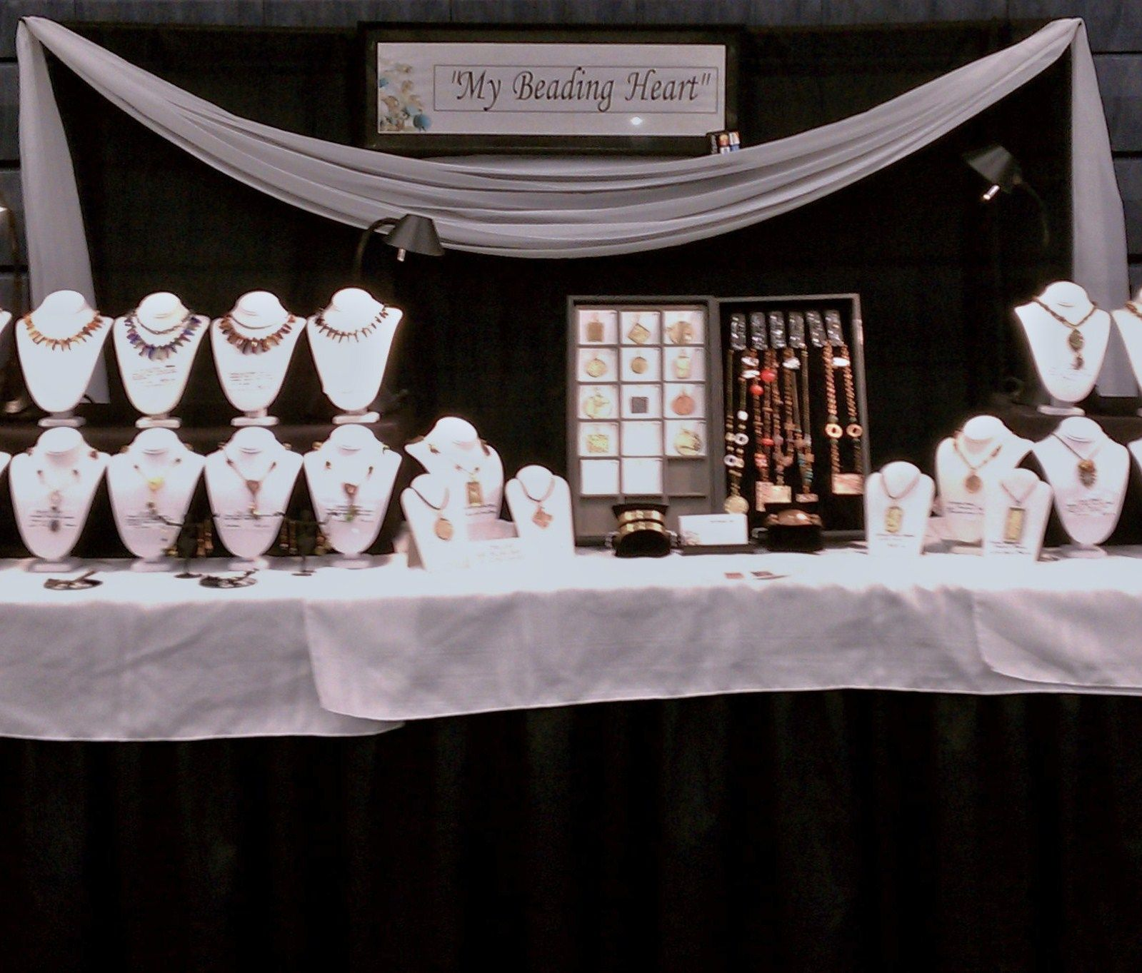 Jewelry Making Journal Jewelry Booth Jewelry Table Display Clothing Booth Display