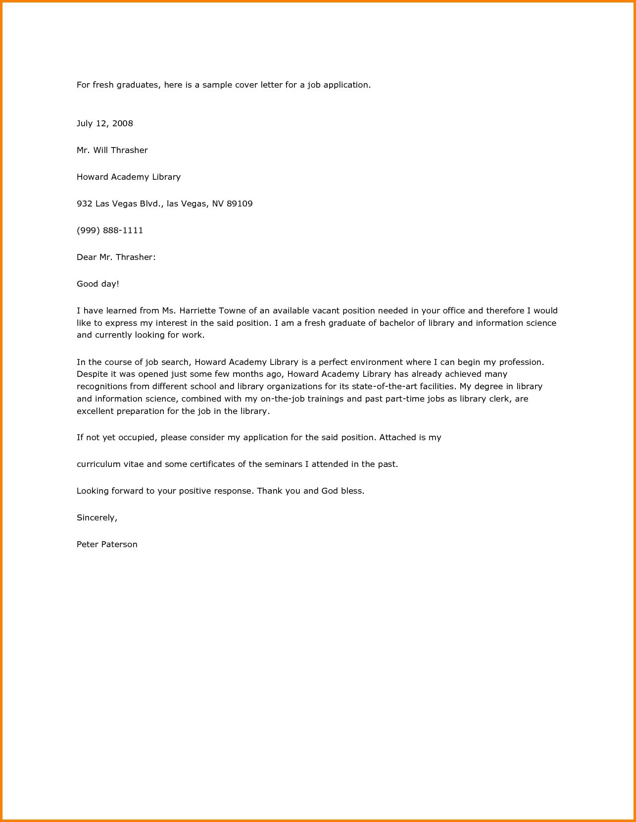 College Grad Cover Letter Entry Level from i.pinimg.com