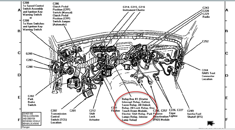 1997 ford ranger radio wire diagram