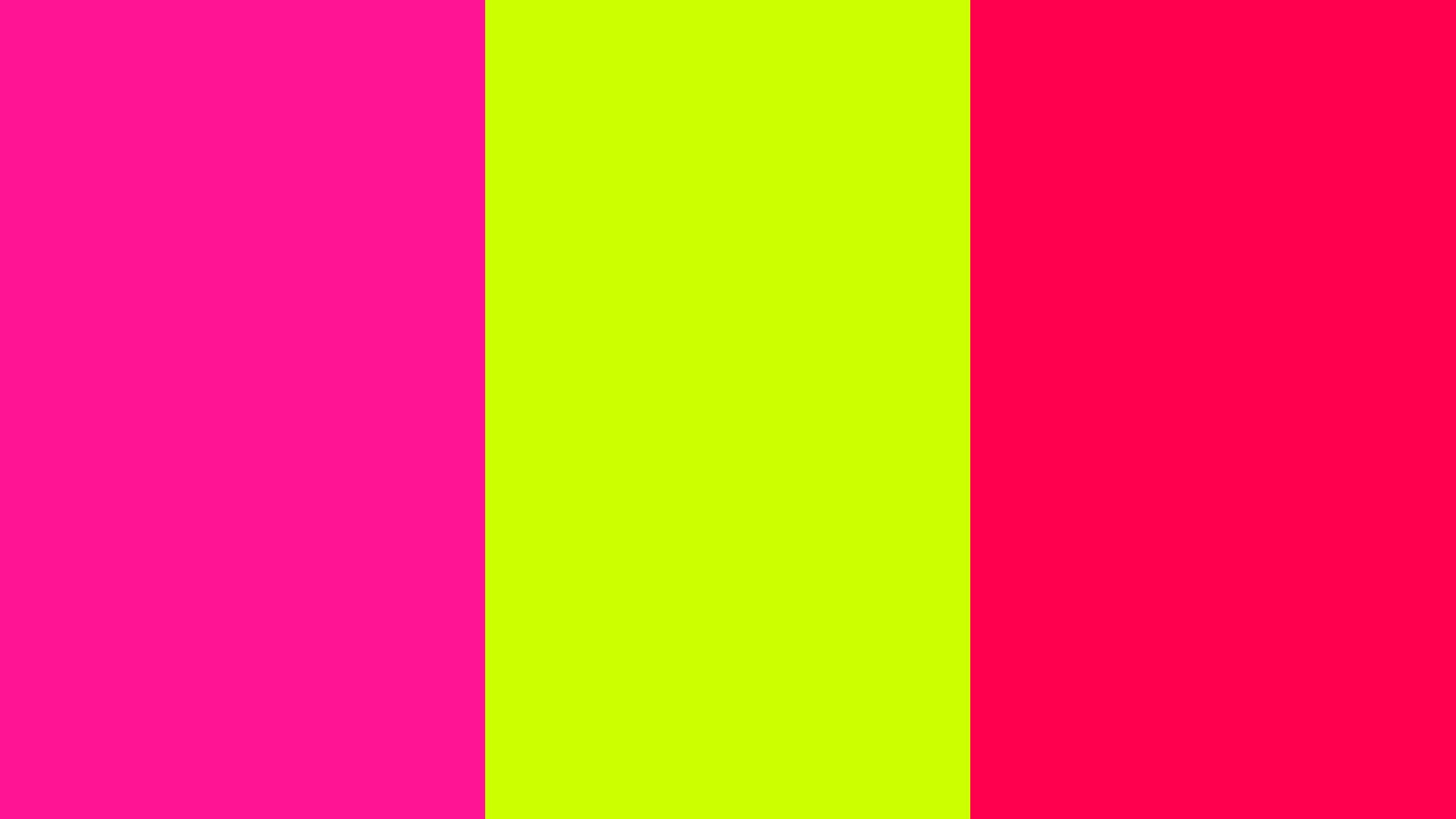 2560x1440-fluorescent-pink-fluorescent-yellow-folly-three-color ...
