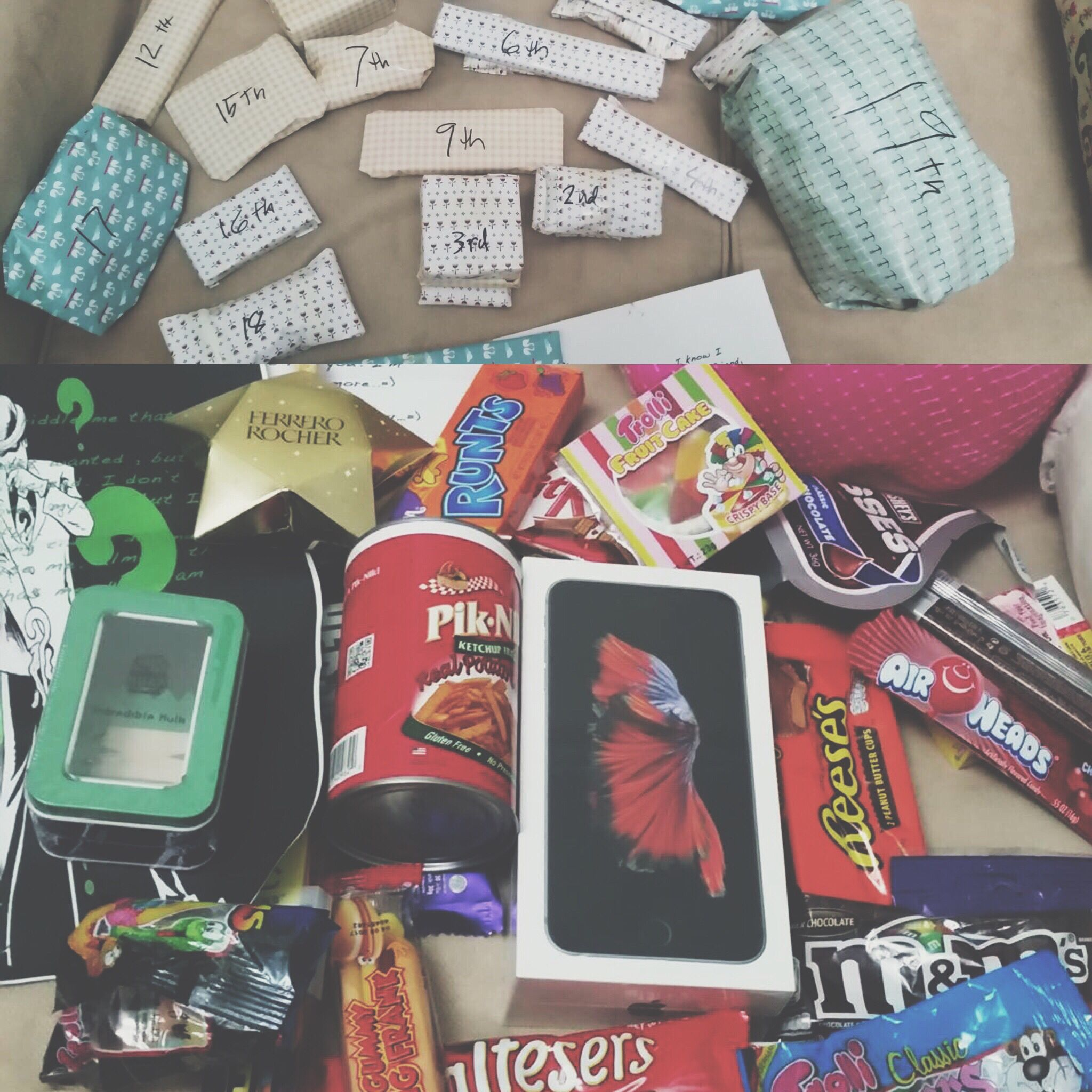 My Boyfriends Birthday Surprise19 Gifts To Open A Riddle Solve All Favorites In One Gift Fun
