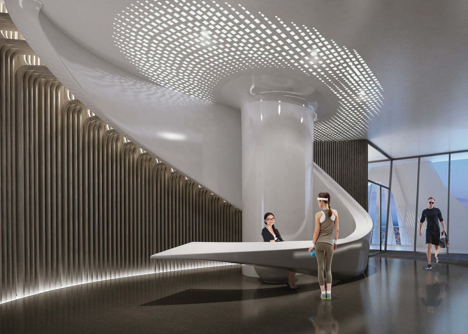 Zaha hadid 39 s interiors for one thousand museum in miami for Construction architect