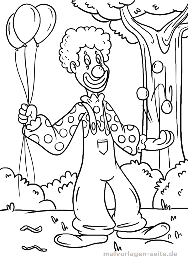 Malvorlage Clown | Outlines