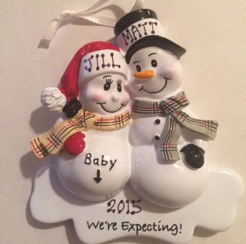 Pregnant Christmas Ornament